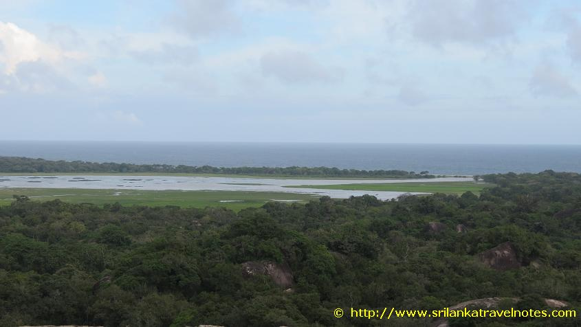 View of the Indian Ocean from Kudumbigala