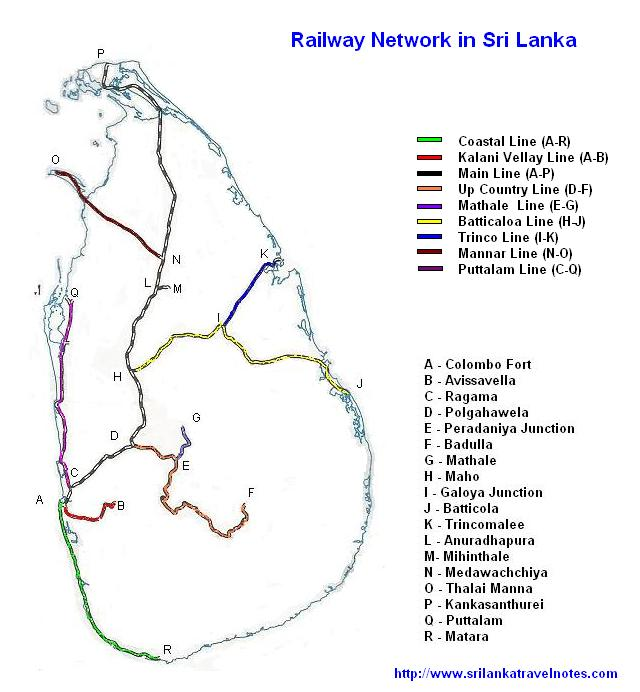 Railway Network in Sri Lanka